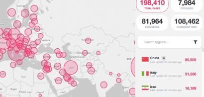 BREAKING 200.000 de infectați cu coronavirus pe plan global
