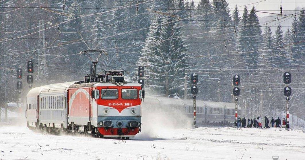 CFR Calatori: 35 de trenuri anulate, din cauza conditiilor meteo. Circulatia trenurilor de calatori se desfasoara in conditii de iarna