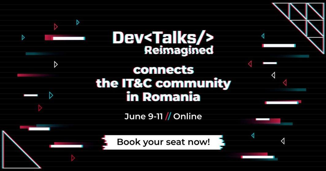 (P) DevTalks Reimagined, cel mai amplu eveniment de tehnologie, va avea loc online pe 9 – 11 iunie. Peste 40 de companii IT și 100 de speakeri locali și internaționali îți dau întâlnire în mediul virtual
