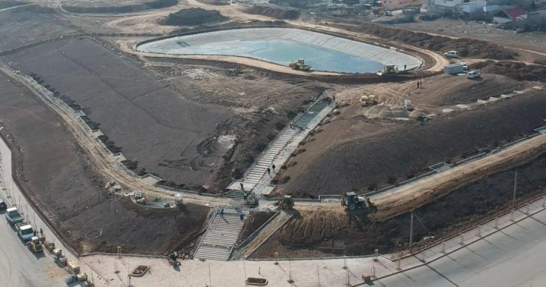 Primăria Sectorului 3 termină în două luni parcul de pe strada Brățării, unde a amenajat un lac