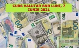 Curs valutar BNR luni, 7...