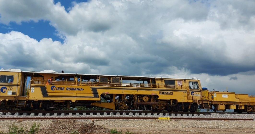 Cum arată lucrările de pe șantierele feroviare pentru noua linie de cale ferată Gara de Nord - Aeroportul Internațional Henri Coandă?
