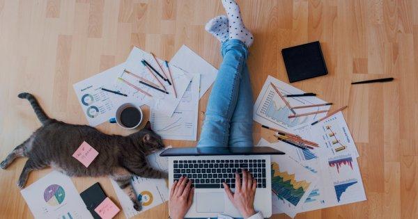 Sondaj: Angajaţii care lucrează de acasă reprezintă 60% din forţa de muncă la...