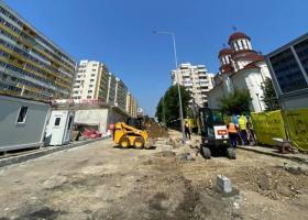 FOTO | Au fost reluate lucrările la Pasajul Doamna Ghica