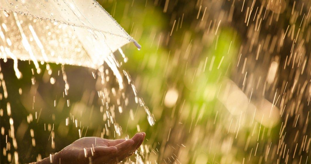 Vremea în România: Cod Galben de ploi în aproape toată țara