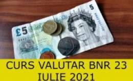 Curs valutar BNR vineri, 23...