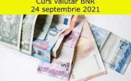 Curs valutar BNR vineri, 24...