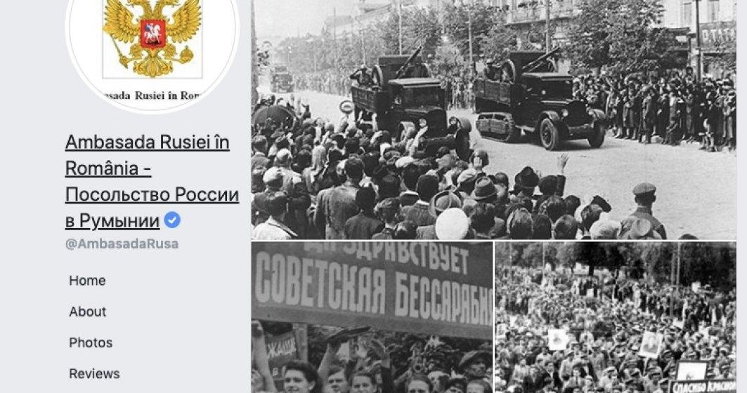 """Tupeu diplomatic"": Ambasada Rusiei propune SARBATORIREA cedarii Basarabiei"