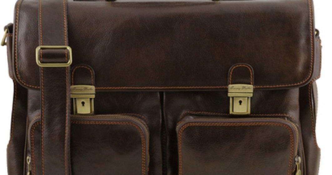 5 modele de genți laptop și serviete din piele, practice și elegante pentru birou și întâlniri business
