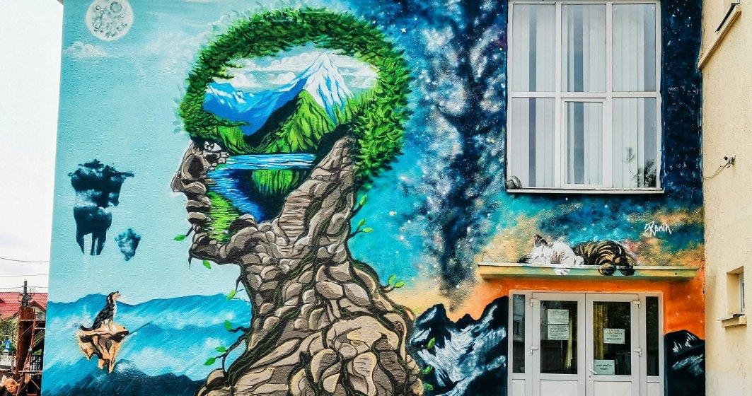 Bacaul, orasul cu cele mai multe picturi murale care purifica aerul din Europa