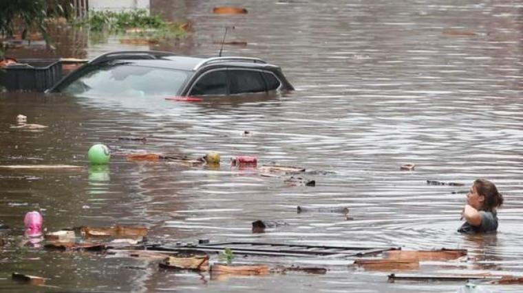 inundații Liege - Belgia