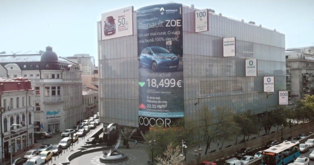 Pretul Renault Zoe a fluctuat in aprilie in functie de nivelul poluarii din Bucuresti - VIDEO