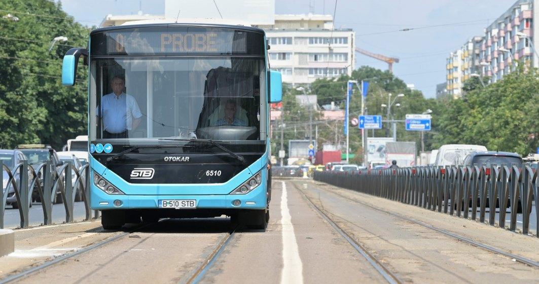 De astăzi, Bucureștiul are bandă unică pentru autobuze pe linia de tramvai