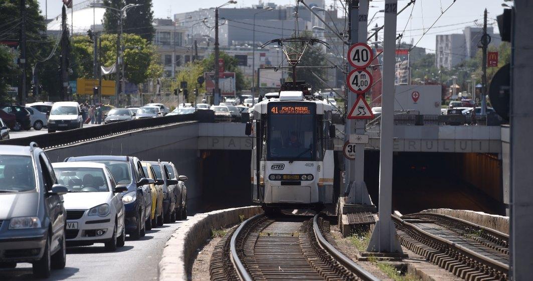 Tramvaiul 41 circula normal de sambata, dupa ce consolidarea Podului Grant a fost finalizata