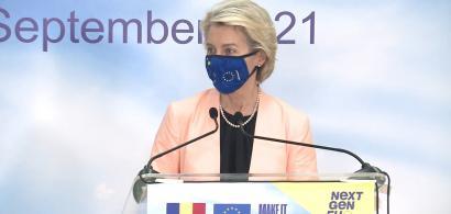 """Ursula von der Leyen: UE nu va finanța """"garduri de sârmă ghimpată și ziduri""""..."""