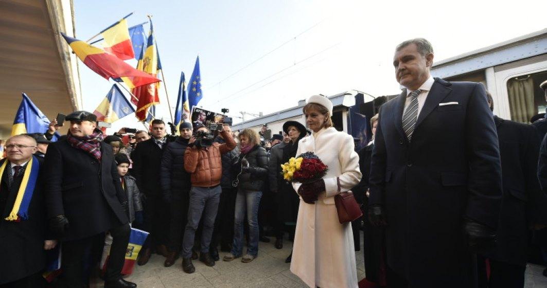Familia Regala, la manifestarile de la Alba Iulia. Trenul regal poate fi vizitat pe parcursul zilei de sambata