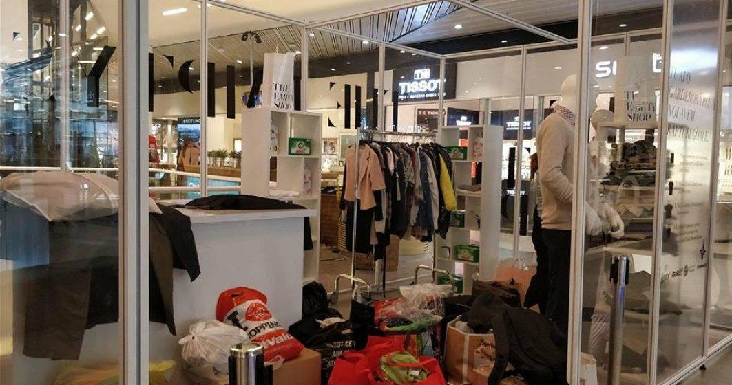 The Empty Shop, primul magazin gol din Romania, a adunat 30 de tone de haine de la 10.000 de oameni