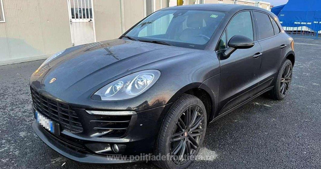 Un autoturism Porsche furat din Germania și înmatriculat în Italia urma să intre în România pe la Nădlac