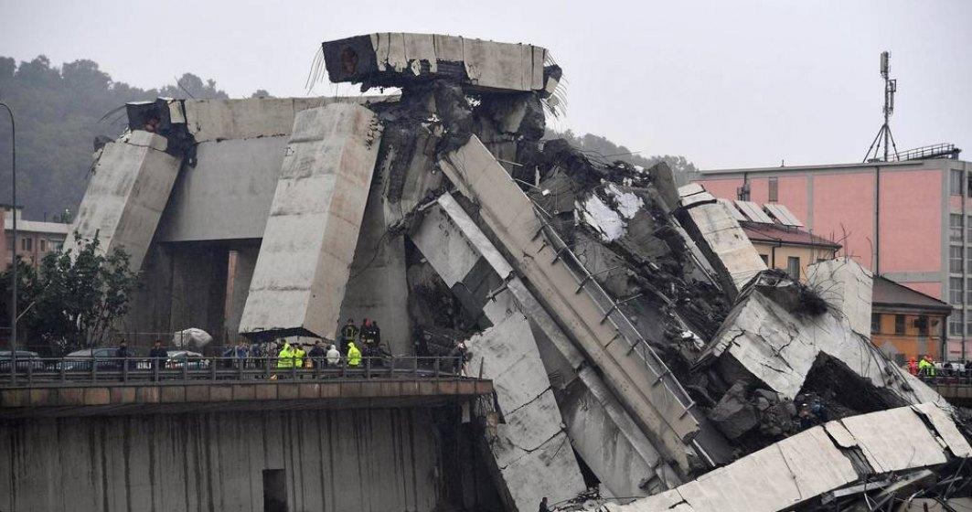 Un roman a murit in urma prabusirii unei portiuni din viaductul autostrazii A10, in Italia. Bilantul mortilor a crescut la 35 de morti