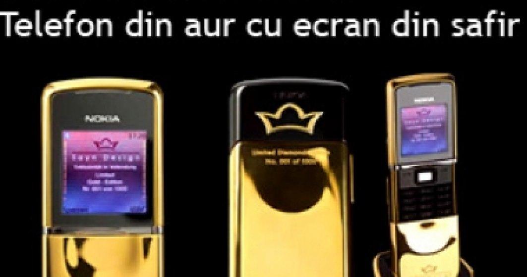 Nokia lanseaza un telefon din aur cu ecran din safir