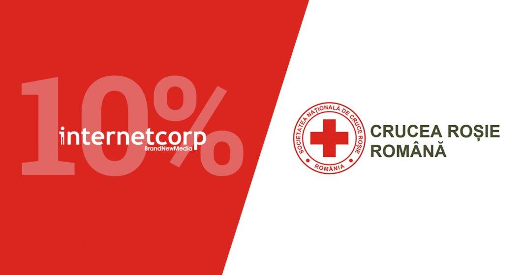InternetCorp donează 10% din campaniile de comunicare către Crucea Roșie Română