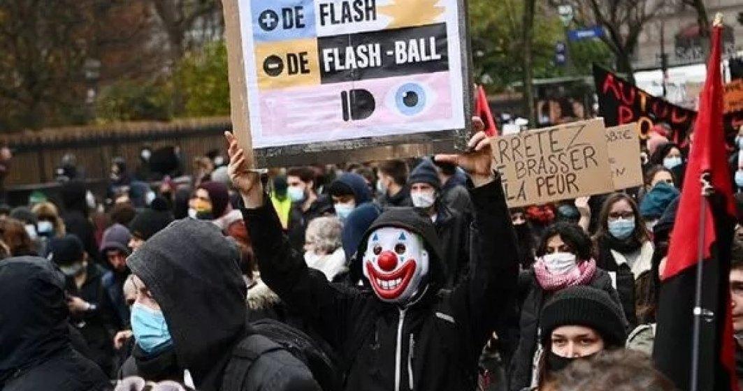 FRANȚA: O nouă zi de proteste împotriva legii privind securitatea