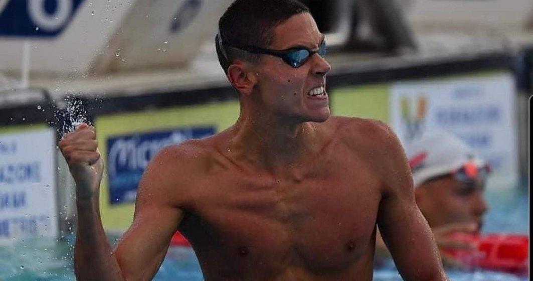 O nouă victorie pentru David Popovici. Sportivul a fost medaliat cu aur în proba de 200 m liber, la Europenele de juniori
