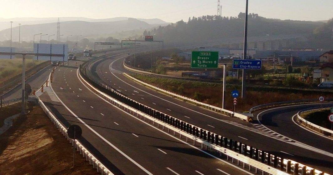 CNAIR a deschis circulatia pe inca 9,6 kilometri de autostrada