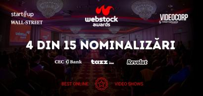 Patru producții marca VideoCorp by InternetCorp, nominalizate la Webstock...