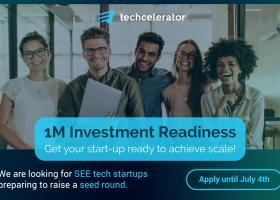 "Techcelerator lansează ""1M Investment Readiness Program"", un program dedicat..."