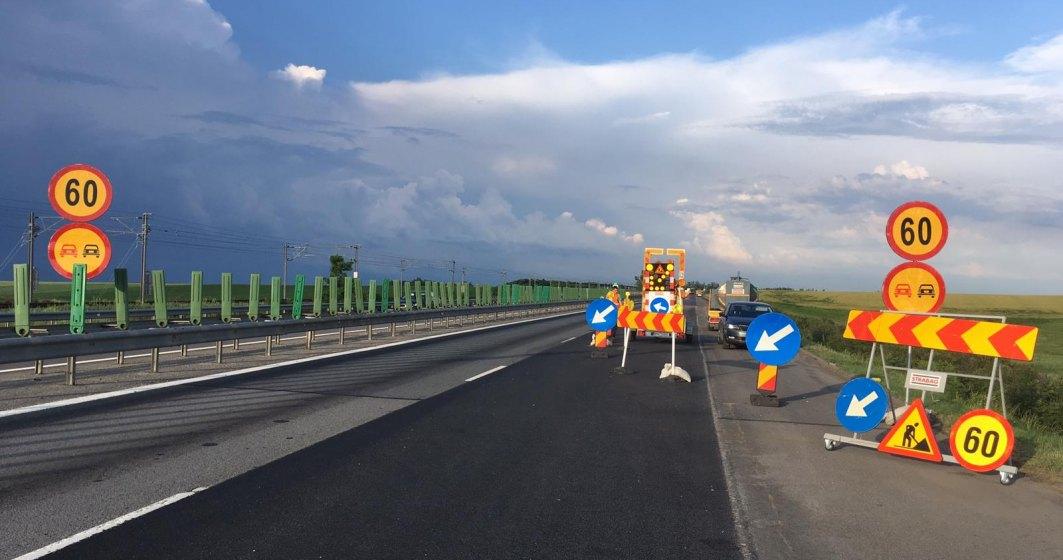 Trafic restrictionat pe autostrada A2, pe sensul Bucuresti-Constanta, ca urmare a lucrarilor de asfaltare