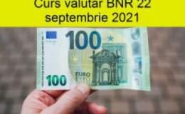 Curs valutar BNR miercuri, 22...