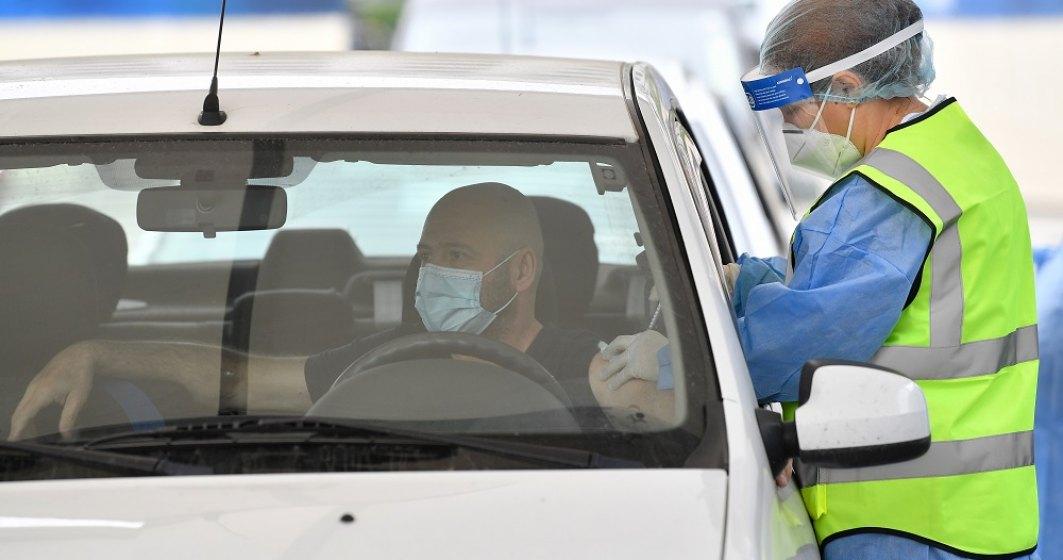 Record: Peste 1.000 de persoane vaccinate într-o zi la centrul drive-through
