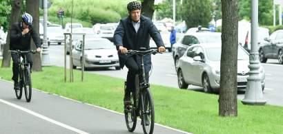 Klaus Iohannis, pe bicicletă către Palatul Cotroceni