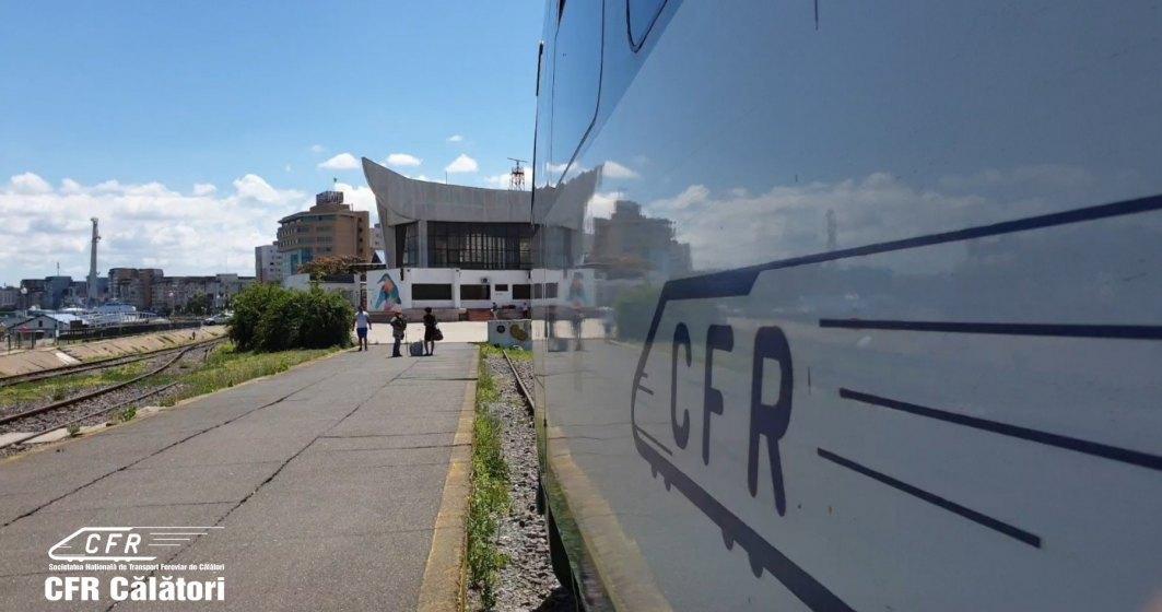 O locomotivă cu călători a luat loc între Timișoara și Arad