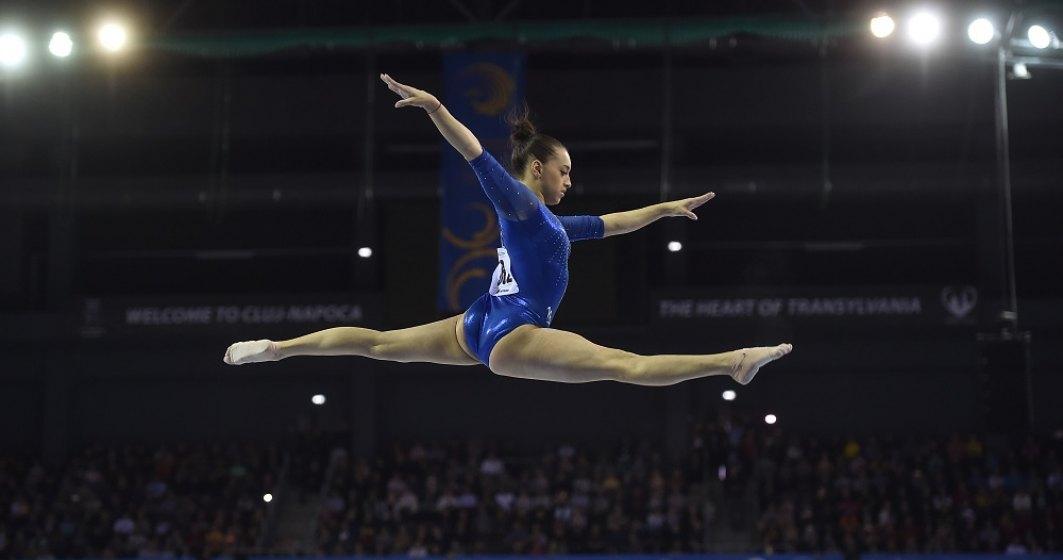 Gimnasta Larisa Iordache, medaliată cu argint la sărituri, la Europenele de la Mersin