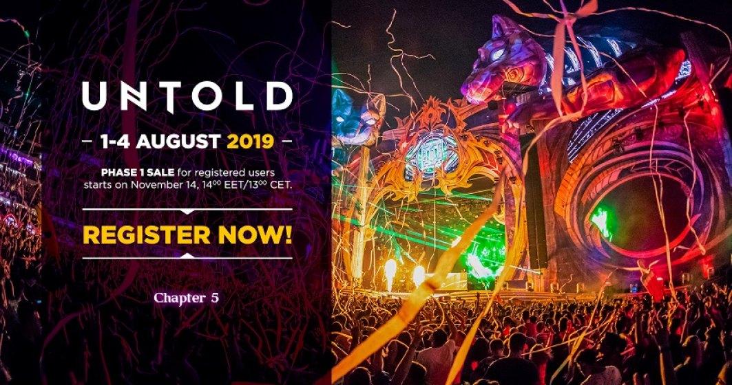 Untold 2019: A cincea editie a festivalului din Cluj are loc intre 1 si 4 august. Cand se pun in vanzare biletele