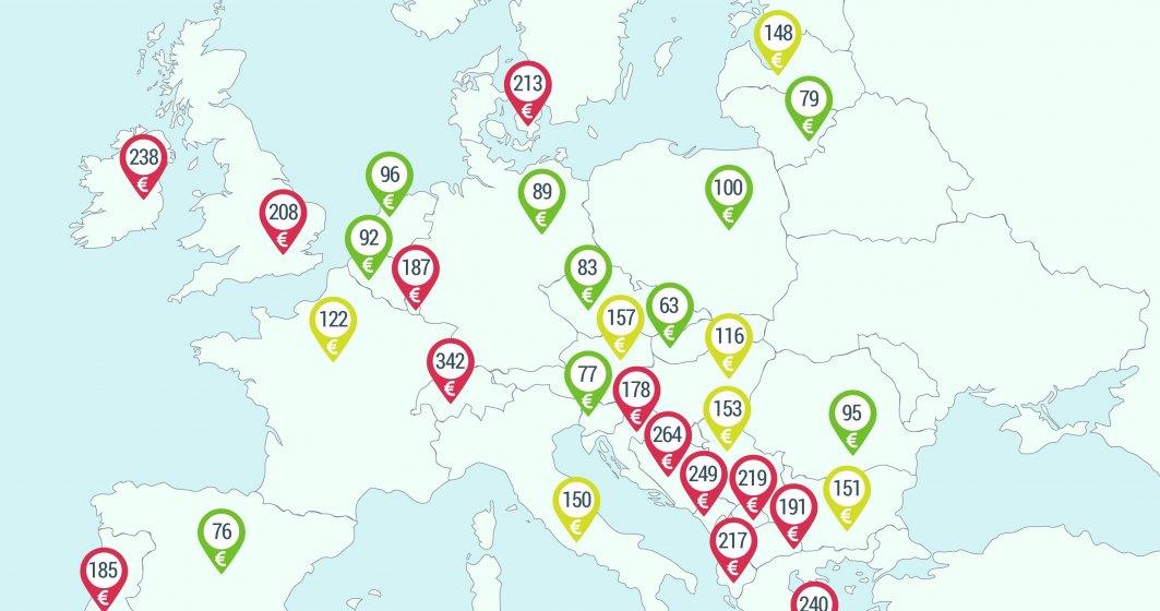 Harta tarifelor de rent-a-car in Europa. In sapte capitale europene tarifele sunt mai mici decat la Bucuresti