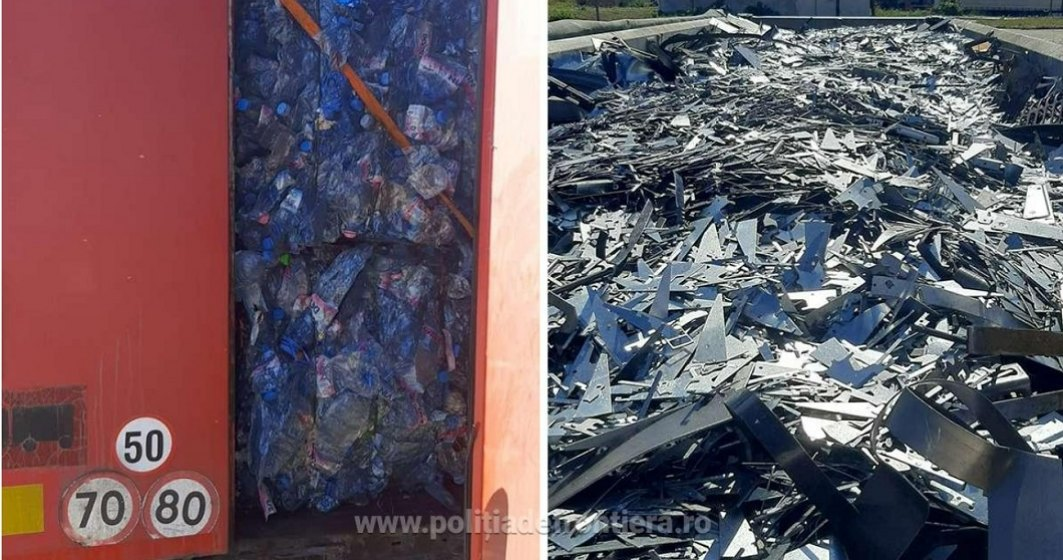 Aducem gunoaie și din Bulgaria: Poliția de frontieră a descoperit zeci de tone de deșeuri care intraseră pe la Giurgiu