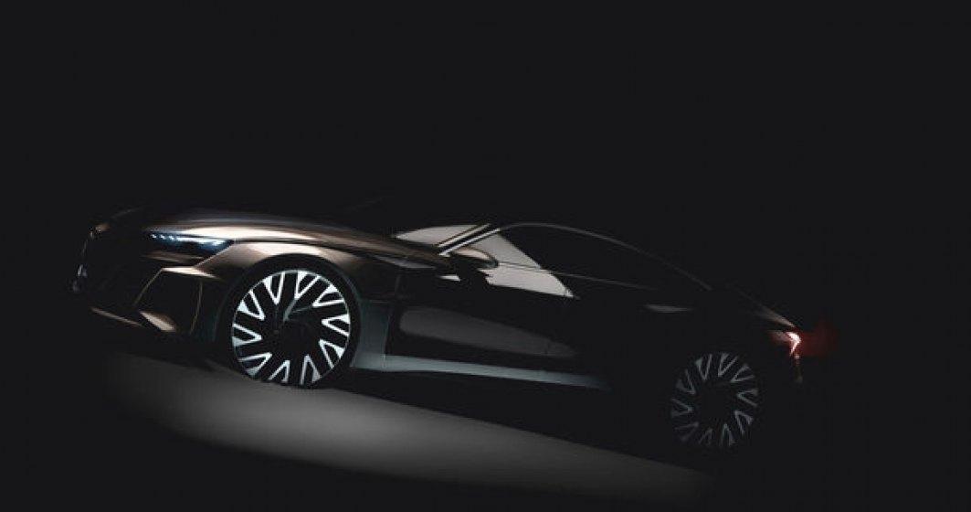 Audi e-tron Gran Turismo: prima imagine cu noul model electric care va fi lansat dupa 2020