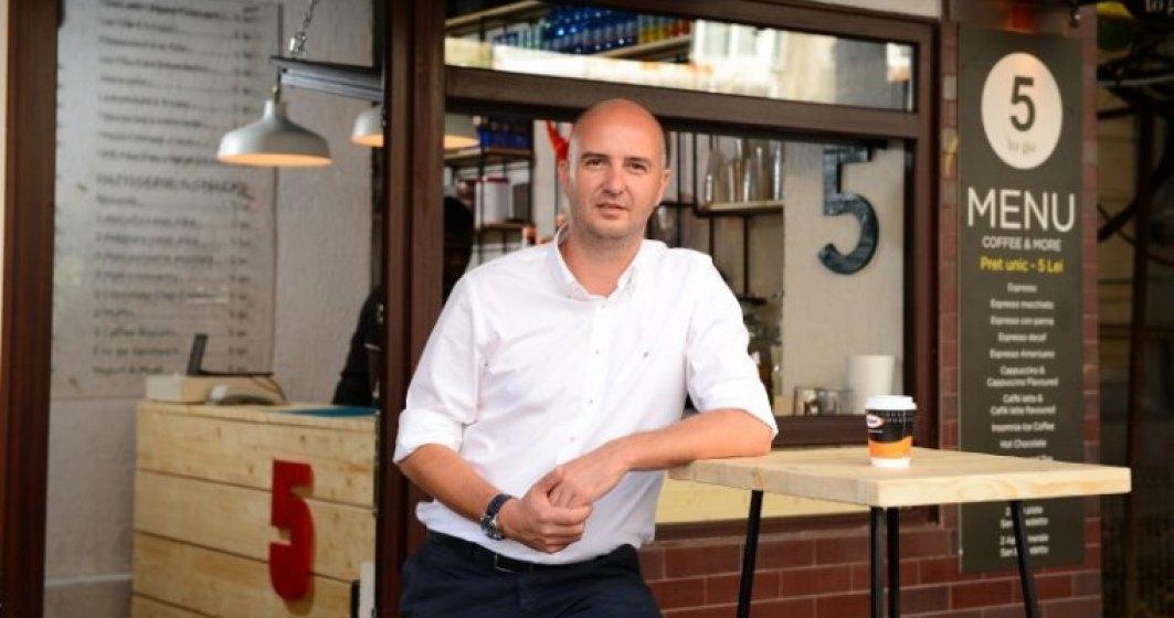 5 To Go sau cum un roman care bea cafea la ibric creeaza cel mai mare lant de cafenele din tara