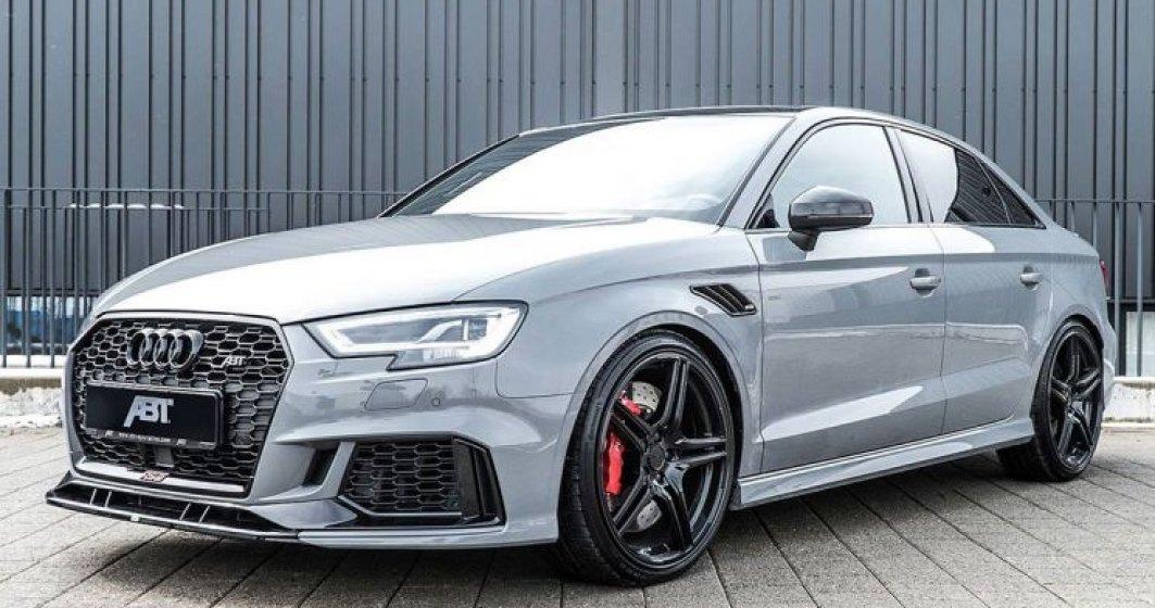 Audi RS3 tunat de ABT Sportsline cu pachetul Power R: cati cai putere are sedanul?