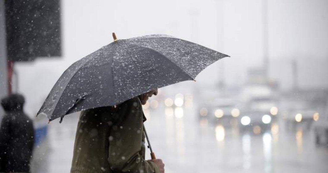 Informare de ploi insemnate cantitativ si ninsori abundente, valabila pana luni, ora 16:00