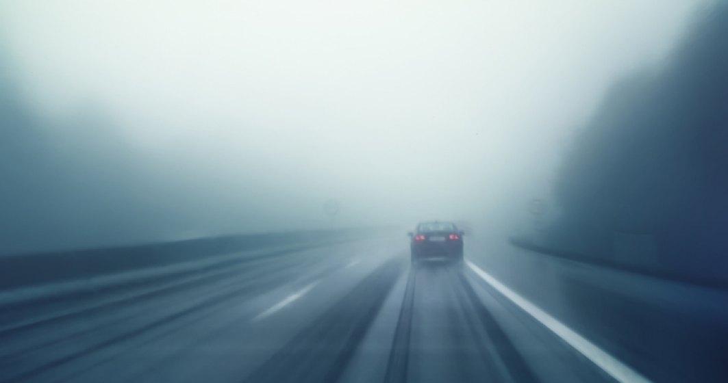 Circulatie ingreunata pe Autostrada Soarelui, din cauza cetii. Vizibilitatea sub 100 de metri