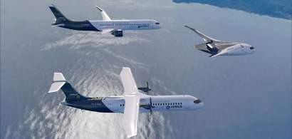 Airbus a dezvăluit trei concepte de aeronavecomercialecu emisii zero