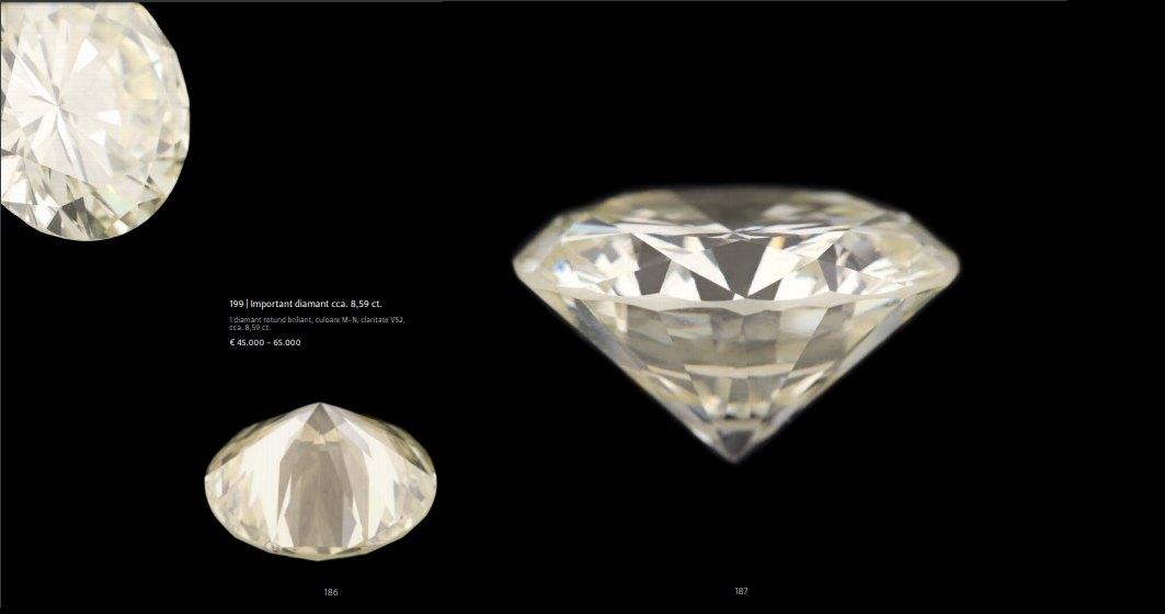 Cel mai mare diamant din România, adjudecat la 46.000 de euro