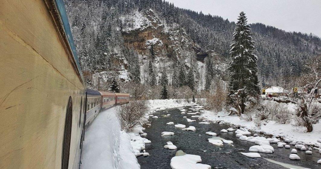 Circulație în condiții de iarnă pe calea ferată: ce trenuri sunt întârziate