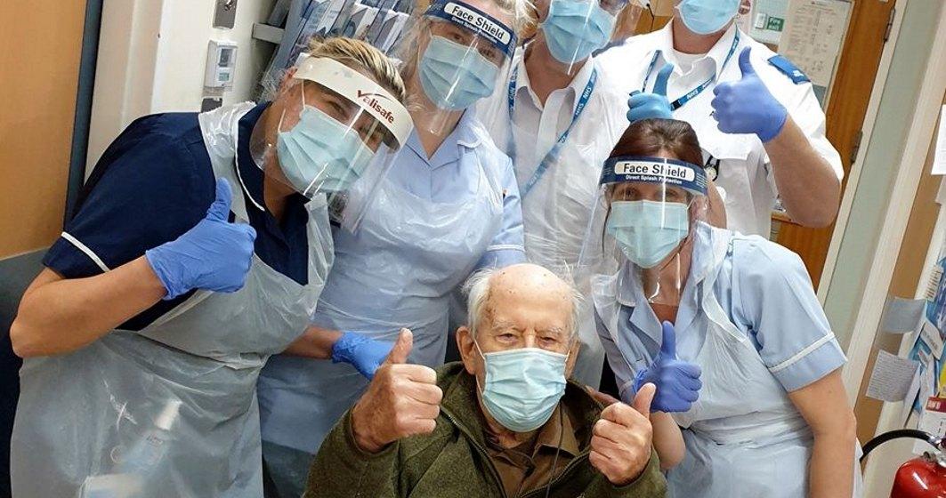 Un britanic de 101 ani s-a întors acasă după ce a fost tratat pentru coronavirus