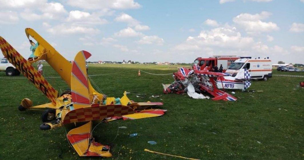 Doua avioane de mici dimensiuni s-au ciocnit in judetul Suceava: unul dintre piloti a decedat