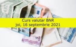 Curs valutar BNR joi, 16...
